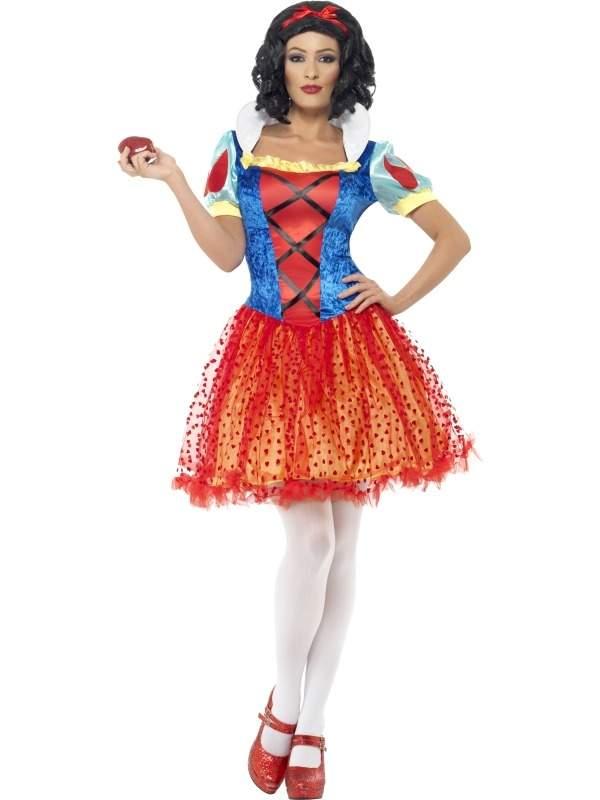 Halloween Sprookjes Kostuum.Sneeuwwitje Sprookjes Kostuum Met Lichtjes Snel Thuis Bezorgd