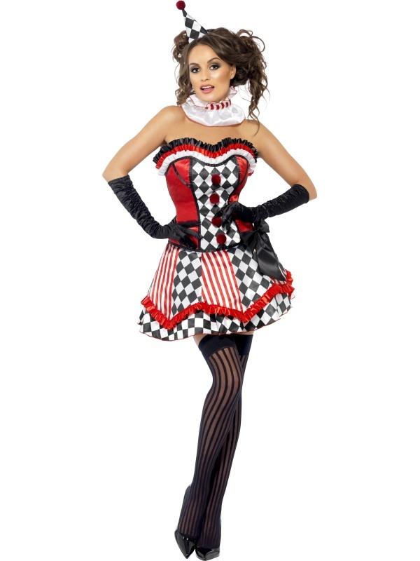 Carnavalskleding Dames Clown.Fever Boutique Clown Cutie Dames Kostuum Snel Thuis Bezorgd