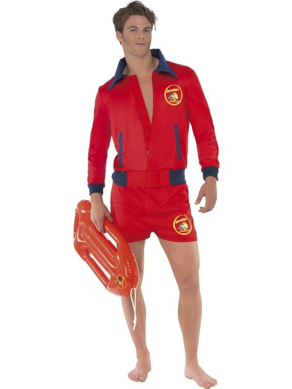 Baywatch Lifeguard Heren Verkleed-kleding