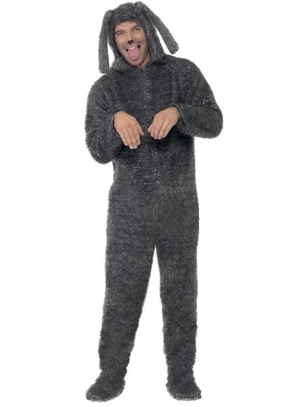 Fluffy Hond Heren Kostuum