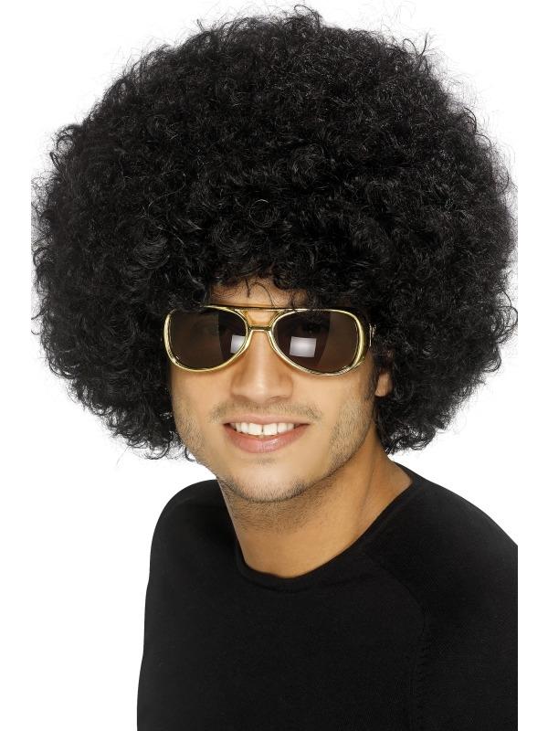 70's Funky Afro Pruik