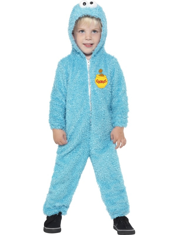 Cookie Monster Sesamstraat Onesie Kostuum