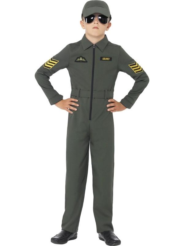 Vliegenier Top Gun Kinder Kostuum