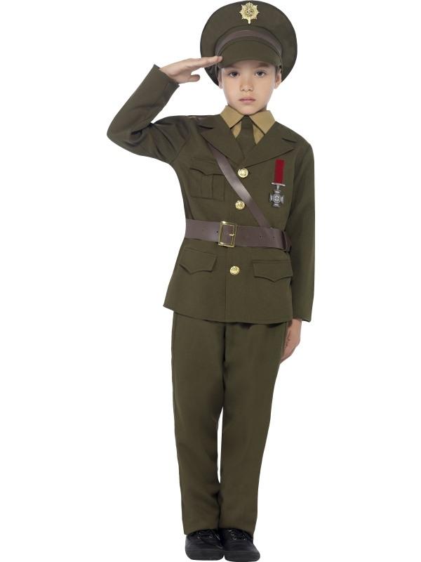Legerofficier Kinder Kostuum