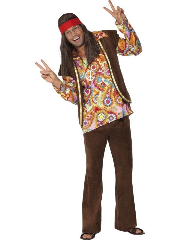 Psychedelic 1960's Hippie Heren Kostuum