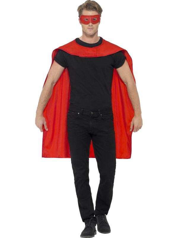 Rode Cape met Oogmasker Superheld