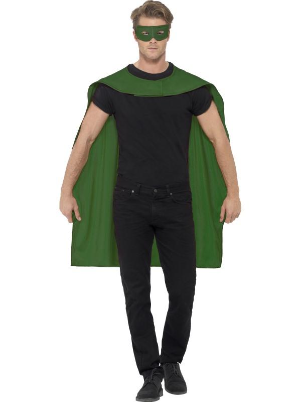 Groene Cape met Oogmasker Superheld