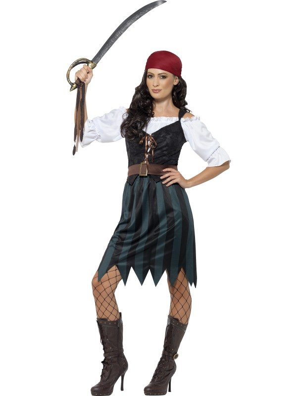 Pirate Deckhand Piraten Dames Kostuum
