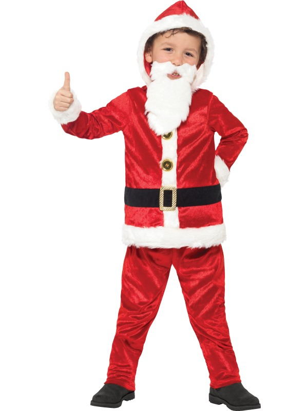 Jolly Santa Kinder Verkleedkostuum met Geluid