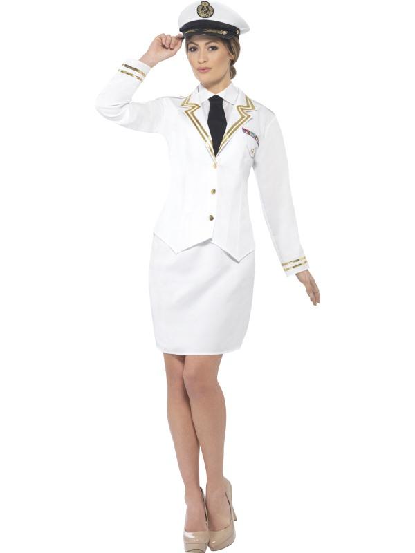 Naval Officer Kapitein Dames Kostuum