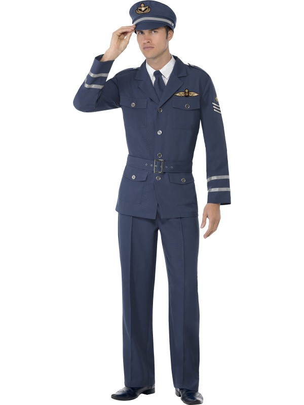 WW2 Air Force Captain Heren Verkleedkleding