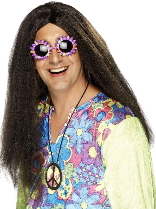 Hippie Bruine Lange Pruik