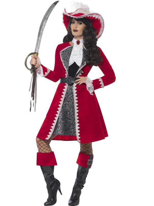 Deluxe Authentiek Kapitein Piraten Kostuum