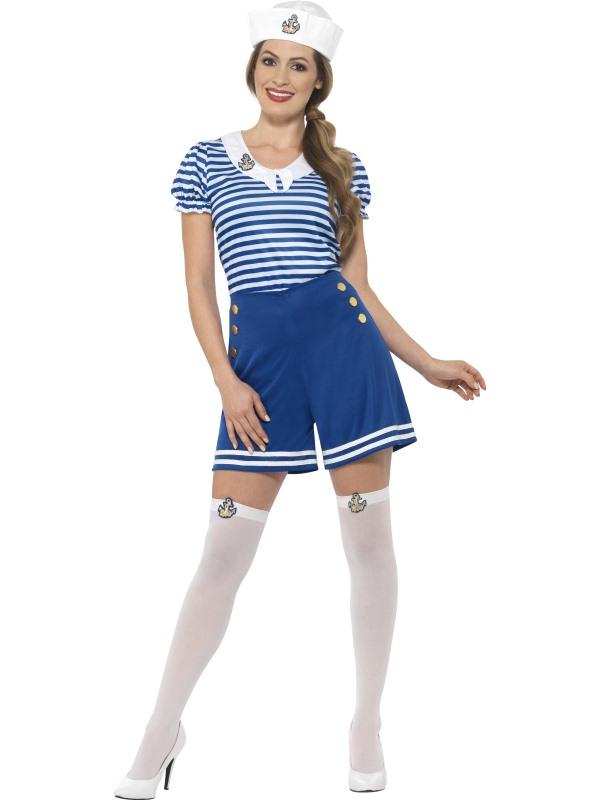 Sailor Girl Zeevrouw Matroos Kostuum