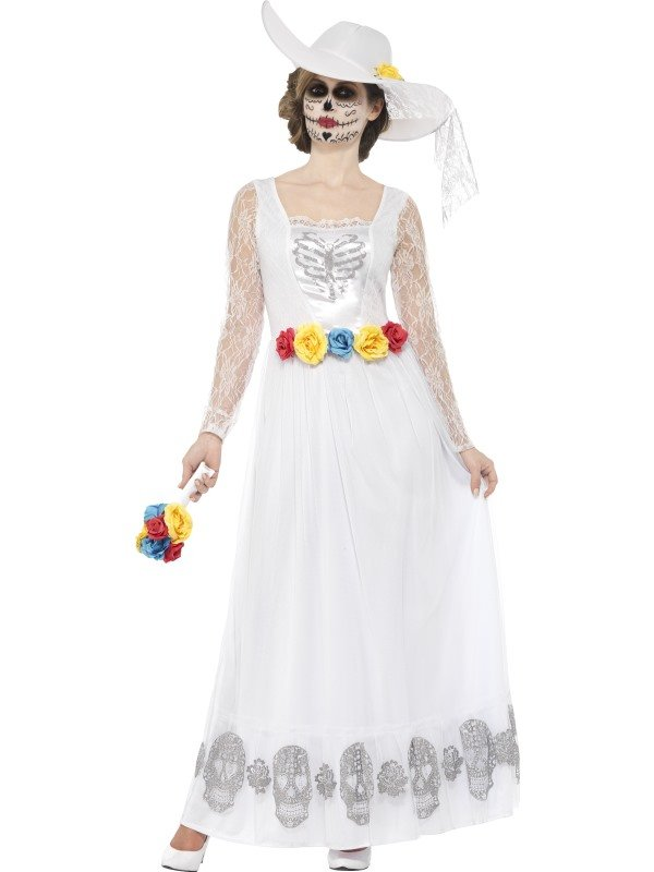 Day of the Dead Skeleton Bride Horror Bruid