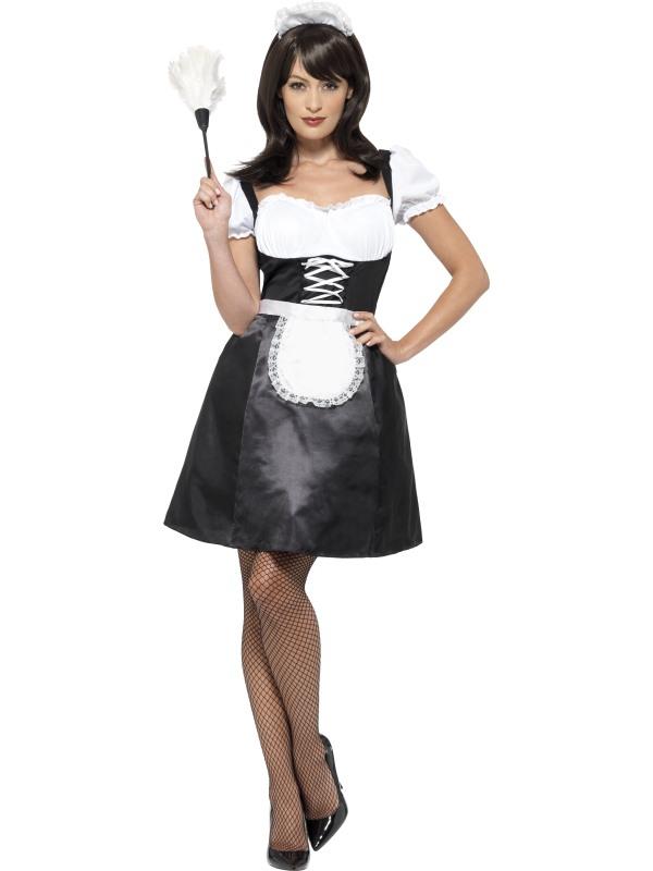Frans Dienstmeisje Dames Kostuum