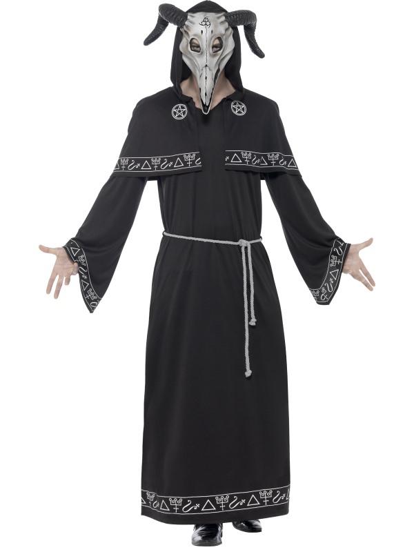 Cult Leader Zwarte Magie Heren Kostuum