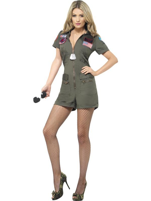 Aviator Top Gun Kostuum Dames