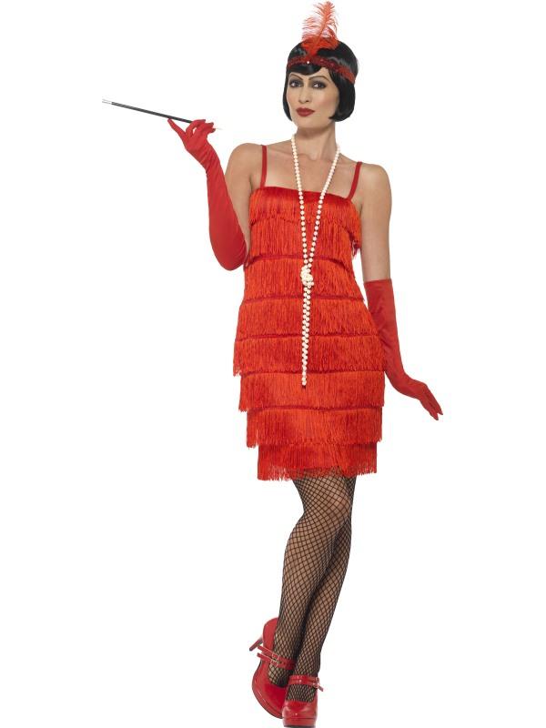 1920's Flapper Kostuum Rood