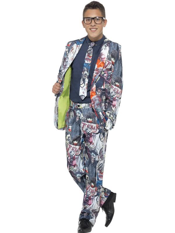 Zombie Tiener Suit 3-delig Net pak