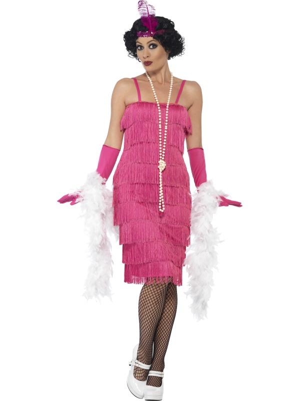 Roze Flapper Charlston Verkleedkleding 3-delig