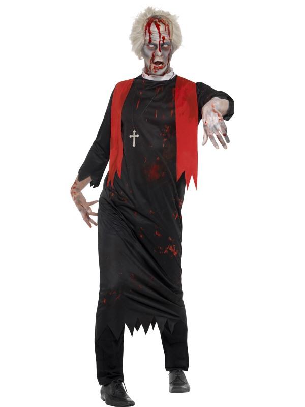 Zombie Hoge Priester Halloween Verkleedkleding