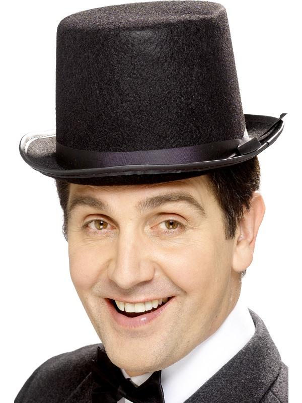 Zwarte hoge top hoed topper hat