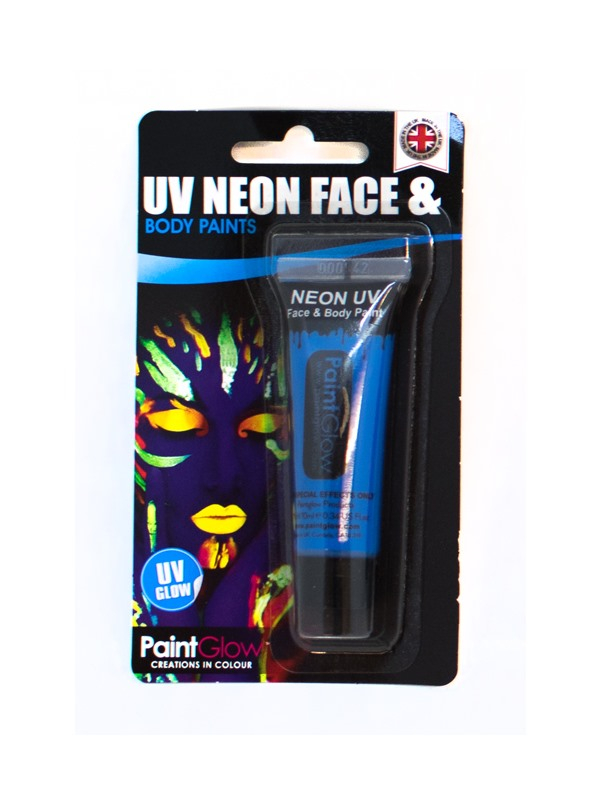 Blauwe UV Face & Body Paint Make Up