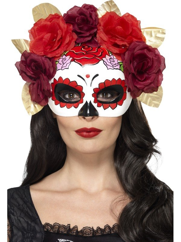 Day of the Dead Oogmasker met Rozen.