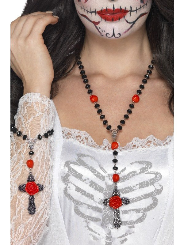 Day of the Dead Kralenketting met Rozen