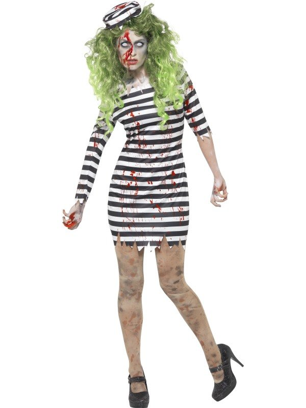 Zombie Jail Bird Boef Halloween Kostuum