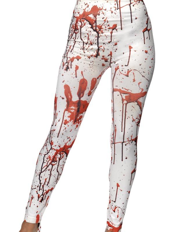 Witte Horror Legging met Bloed