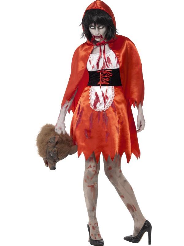 Zombie Rood Kapje Horror Verkleedkleding