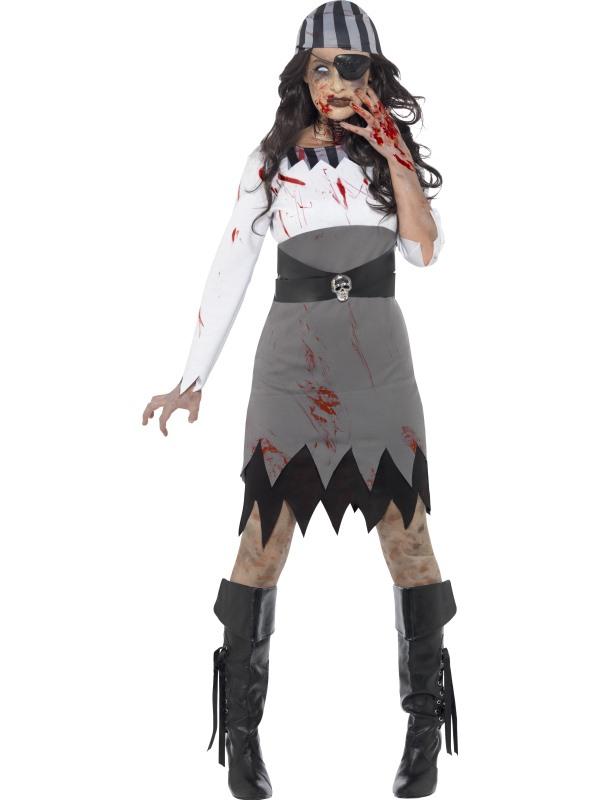Zombie Piraat Dames Horror Verkleedkleding