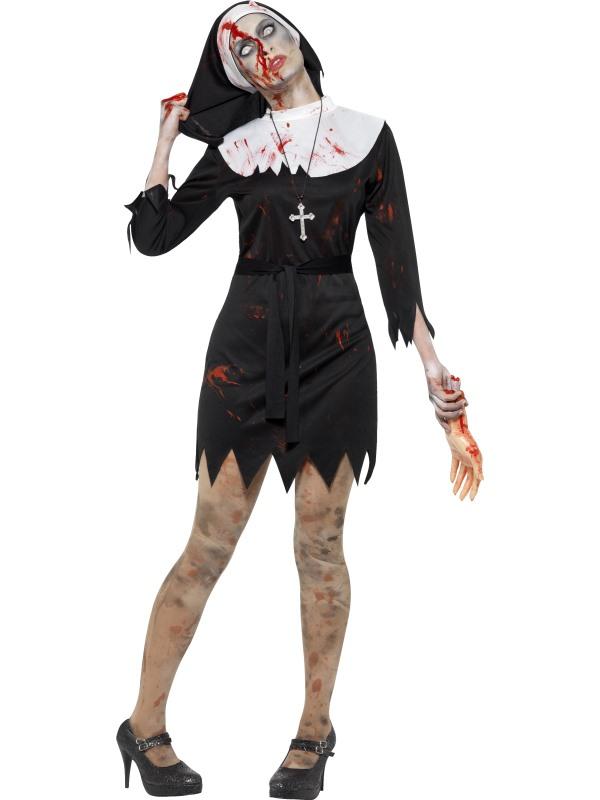 Zombie Non Horror Zuster Verkleedkleding