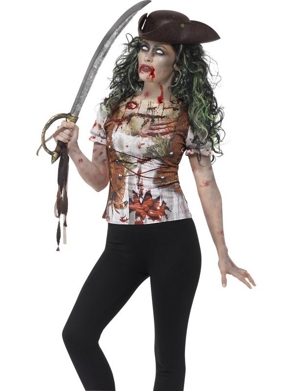 Zombie Piraten Dames Horror T-shirt