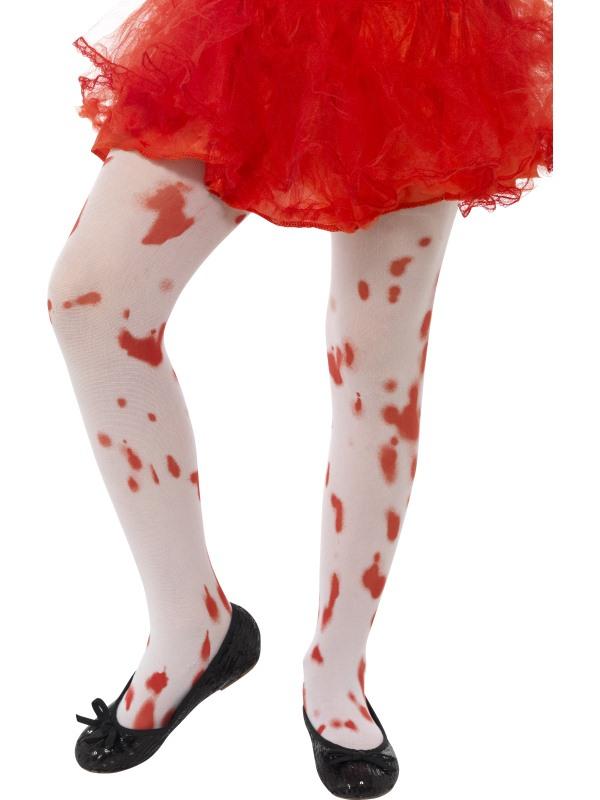 Witte Panty met Bloedvlekken 8-12 jaar