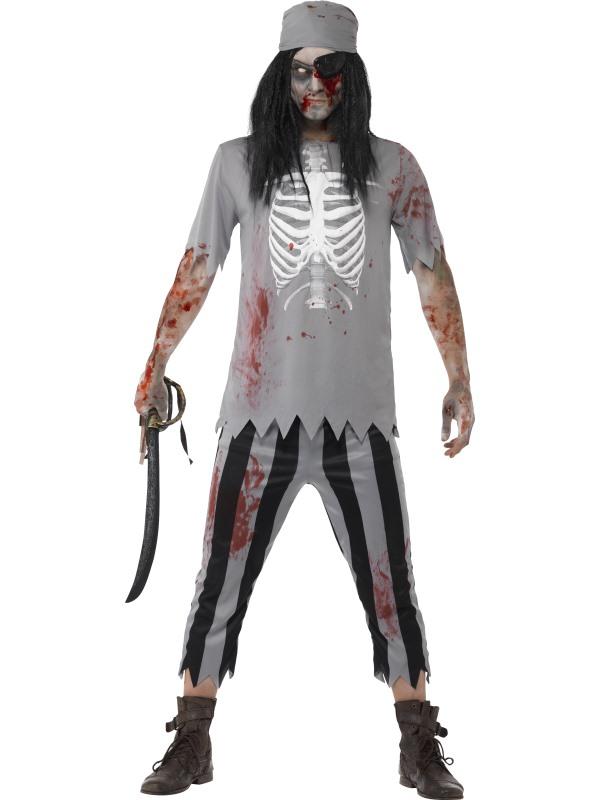 Eenvoudige Zombie Piraten Horror Verkleedkleding
