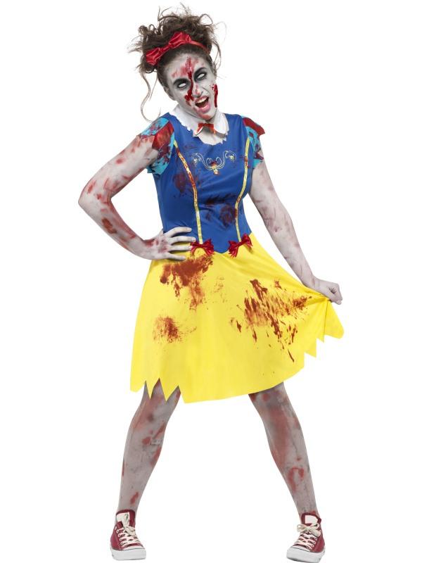 Zombie Miss Snow Tiener Halloween Kostuum