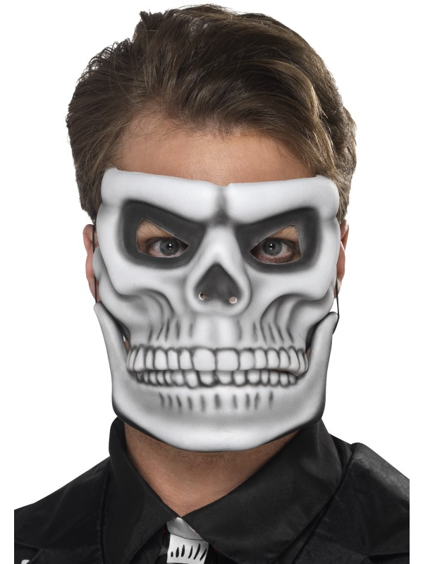 Wit Day of the Dead Skeleton Masker