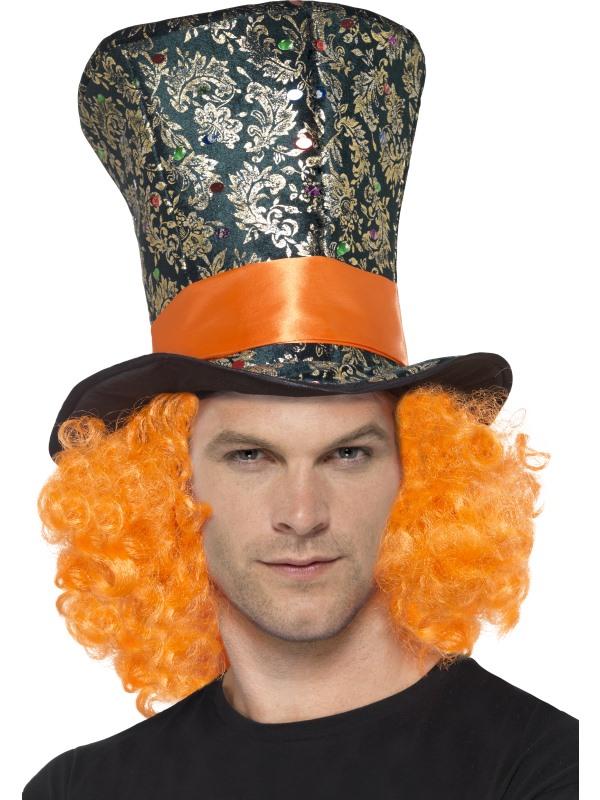 Gekke hoedenmaker Hoge Hoed met Haar