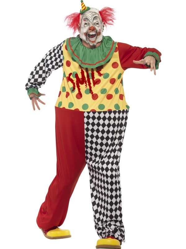 Sinister Horror Clown Heren Kostuum
