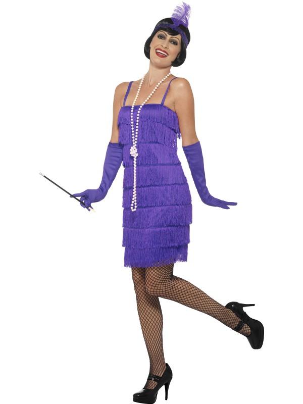 Paarse1920's Flapper Verkleedkleding
