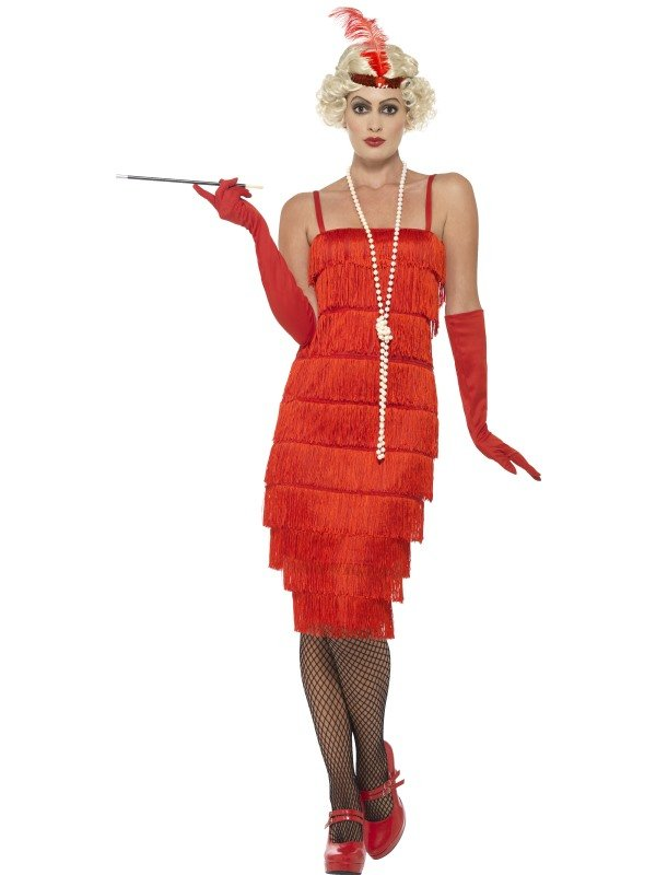 Flapper Charlston Dress Rood