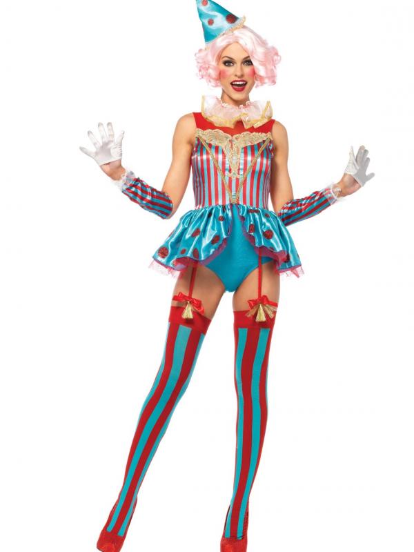 Blije Sexy Circus Clown Verkleedkleding