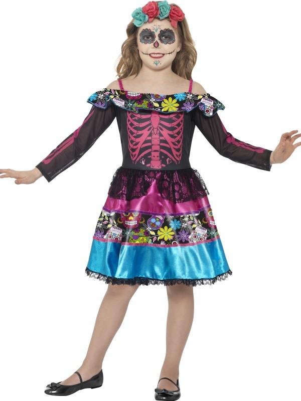 Day of the Dead Sweetheart Kinder Kostuum
