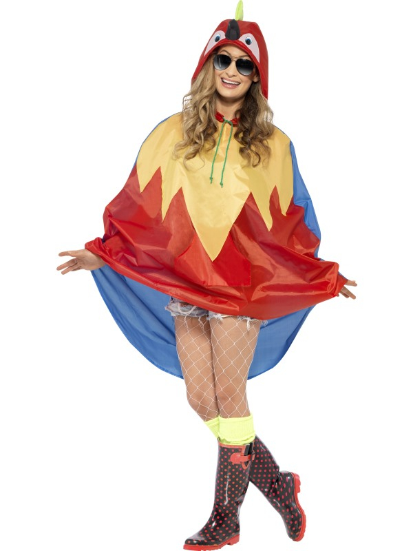 Festival Parrot Party Poncho