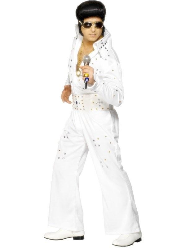 Wit Deluxe Elvis Heren Kostuum