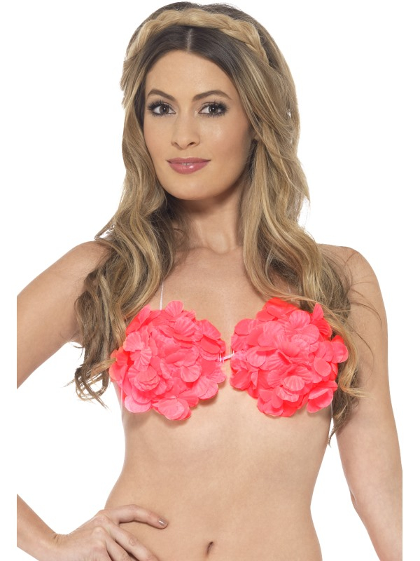 Hawaii Bloemen Bh Neon Pink