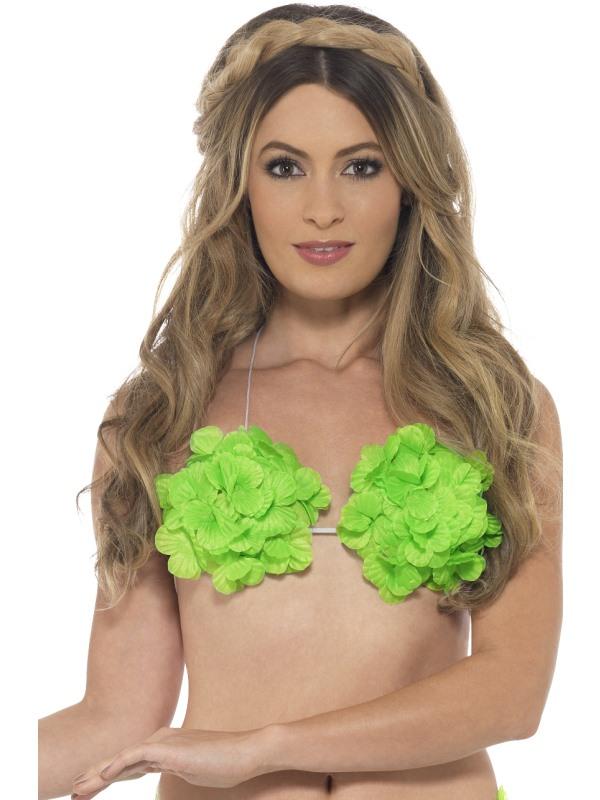 Hawaii Bloemen Bh Neon Groen